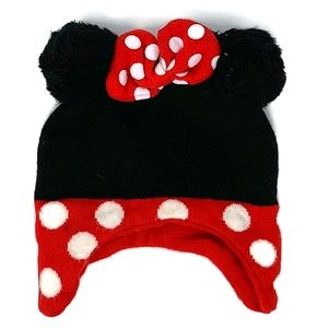Minnie Mouse black red and white bow one size